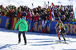 IBU World Championships Biathlon 2017 Hochfilzen. Germany's Laura Dahlmeier wins the Gold Medal of the Women 12.5 km Mass Start Race in Hochfilzen, Austria on 20170219. Susan Dunklee from USA is second and Finland's Kaisa Makarainen takes the bronze.