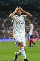 Real Madrid´s Mexican forward Chicharito lamenting