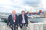 FENIT HARBOUR: Mayor of Kerry Tim Buckley with County Manager Tom Curran at Fenit Harbour which came under the control of Kerry County Council on the 1st of October this year.
