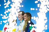 LEDECKY Katie USA gold medal,  BELMONTE Mireia ESP silver medal, QUADARELLA Simona ITA bronze medal<br /> swimming<br /> Women's 1500m freestyle final<br /> day 12 25/07/2017 <br /> XVII FINA World Championships Aquatics<br /> Photo © Giorgio Perottino/Deepbluemedia/Insidefoto