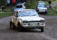 David Stokes / Guy Weaver at Junction 6, on Special Stage 1 Craigvinean in the Colin McRae Forest Stages Rally 2012, Round 8 of the RAC MSA Scotish Rally Championship which was organised by Coltness Car Club and based in Aberfeldy on 5.10.12.