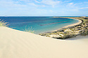 A sand dune at Ningaloo Reef. Coral Bay. Western Australia.