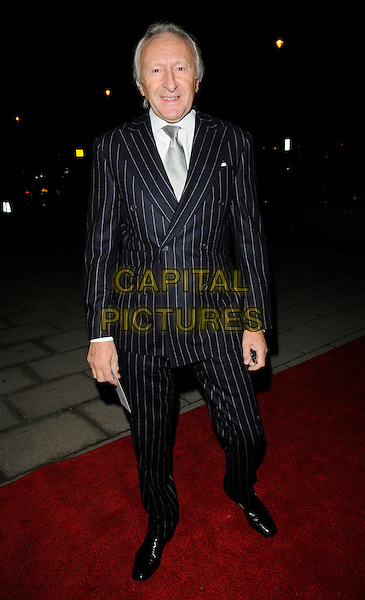 HAROLD TILLMAN .At the Evening Standard Influentials Party, Altitude 360, Millbank Tower, London, England, UK, .16th November 2010..full length blue black pinstripe suit tie grey gray white shirt .CAP/CAN.©Can Nguyen/Capital Pictures.
