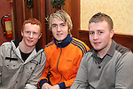 Andrew Murphy, Mark Closkey and Robert Byrne celebrating New Years Eve in Hanrattys...(Photo credit should read www.newsfile.ie)....This Picture has been sent you under the conditions enclosed by:.Newsfile Ltd..The Studio,.Millmount Abbey,.Drogheda,.Co Meath..Ireland..Tel: +353(0)41-9871240.Fax: +353(0)41-9871260.GSM: +353(0)86-2500958.email: pictures@newsfile.ie.www.newsfile.ie.