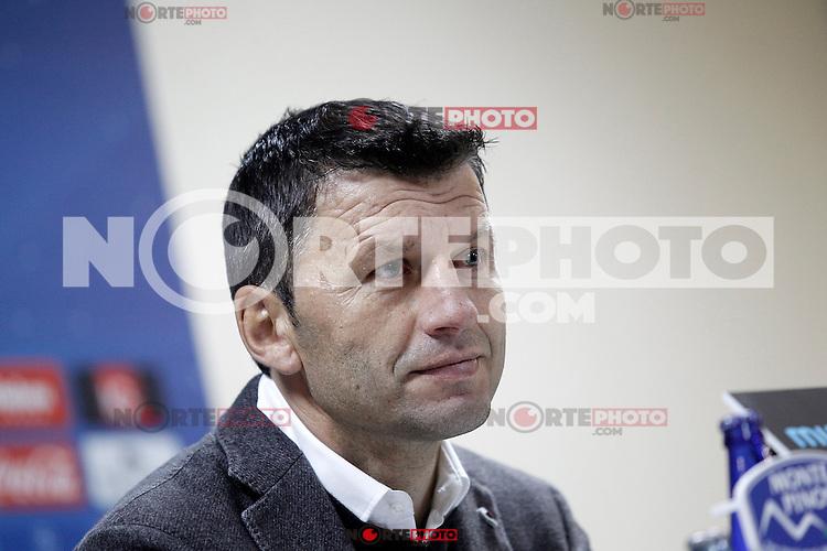 Real Valladolid's coach Miroslav Djukic in press conference after La Liga match.November 18,2012. (ALTERPHOTOS/Acero)