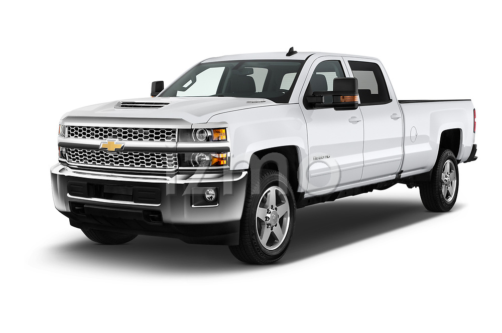 2019 Chevrolet Silverado 2500 LT Crew Cab 4 Door Pick Up angular front stock photos of front three quarter view