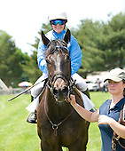 Dirge and Melanie Williams win training flat race at Fair Hill.