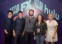 FOX FAN FAIR AT SAN DIEGO COMIC-CON© 2019: L-R: BLESS THE HARTS Executive Producers Phil Lord and Chris Miller, Cast Member Ike Barinholtz, Executive Producer Emily Spivey and Cast Member Jillian Bell during the BLESS THE HARTS booth Signing on Friday, July 19 at the FOX FAN FAIR AT SAN DIEGO COMIC-CON© 2019. CR: Alan Hess/FOX © 2019 FOX MEDIA LLC