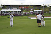 Joost Luiten (NED) plays his 2nd shot on the 18th hole during Sundays Final Round 3 of the 54 hole Iskandar Johor Open 2011 at the Horizon Hills Golf Resort Johor, Malaysia, 19th November 2011 (Photo Eoin Clarke/www.golffile.ie)