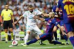 Supercopa de Espa&ntilde;a - Vuelta<br /> R. Madrid vs FC Barcelona: 2-0.<br /> Javier Mascherano vs Karim Benzema.