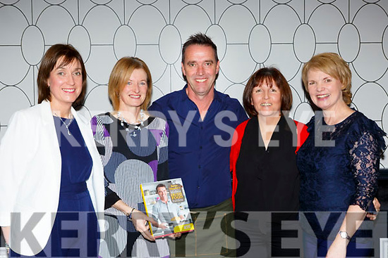 Chef Kevin Dundon with l-r: Siobhain Kennedy, Mairead Whelan, Nora Coffey and Nora McGrath at his Christmas Cooking event in the Muckross Park Hotel on Friday night
