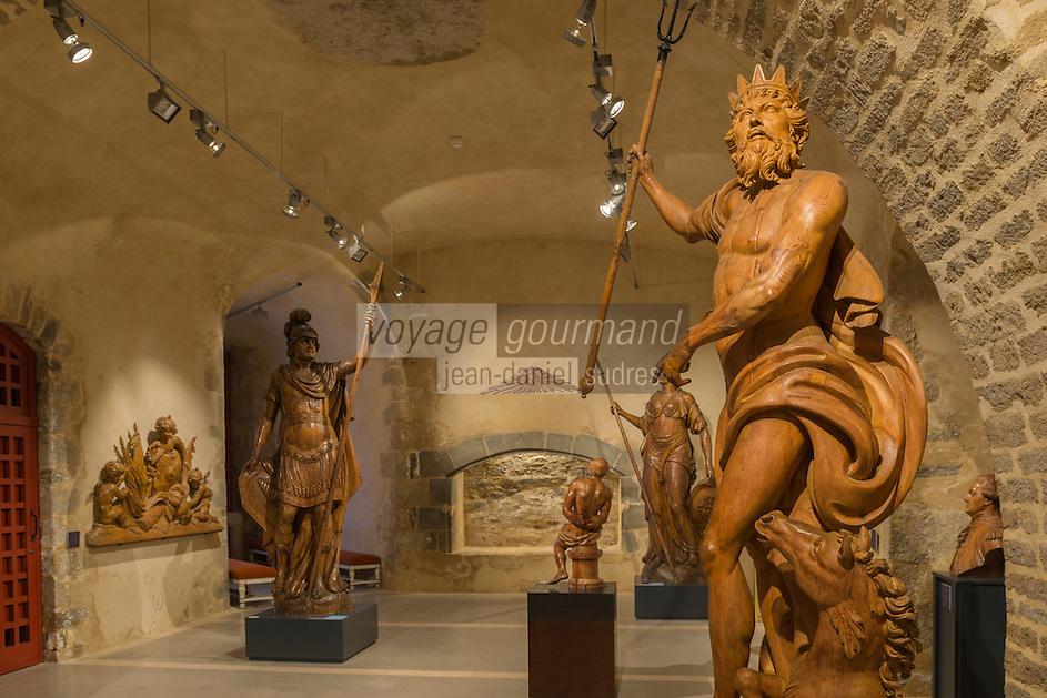 France, Bretagne, (29), Finistère, Brest:  Musée National de la Marine - Château de Brest : L'Atelier de Sculpture du Port de Brest