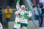 V&auml;ster&aring;s 2014-03-08 Bandy SM-semifinal 4 V&auml;ster&aring;s SK - Hammarby IF :  <br /> V&auml;ster&aring;s Jonas Nilsson har kvitterat till 1-1 och jublar med V&auml;ster&aring;s Pekka Rintala <br /> (Foto: Kenta J&ouml;nsson) Nyckelord:  VSK Bajen HIF jubel gl&auml;dje lycka glad happy