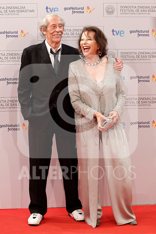 The actors Jean Rochefort (r) and Claudia Cardinale attend the photocall after the premier of  'El artista y la modelo' during the 60th San Sebastian Donostia International Film Festival - Zinemaldia.September 24,2012.(ALTERPHOTOS/ALFAQUI/Acero)