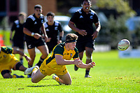 Action from the rugby union match between New Zealand Schools and Australia Under-18s at St Paul's Collegiate in Hamilton, New Zealand on Friday, 4 October 2019. Photo: Dave Lintott / lintottphoto.co.nz