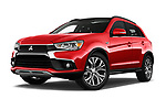 Stock pictures of low aggressive front three quarter view of 2017 Mitsubishi ASX Instyle 5 Door SUV Low Aggressive