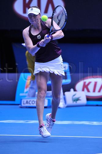 21.01.2011 Australian Open Day 6. Winner Vera ZVONAREVA (Rus) in action against Lucie SAFAROVA (CZE) held at Rod Laver Arena.
