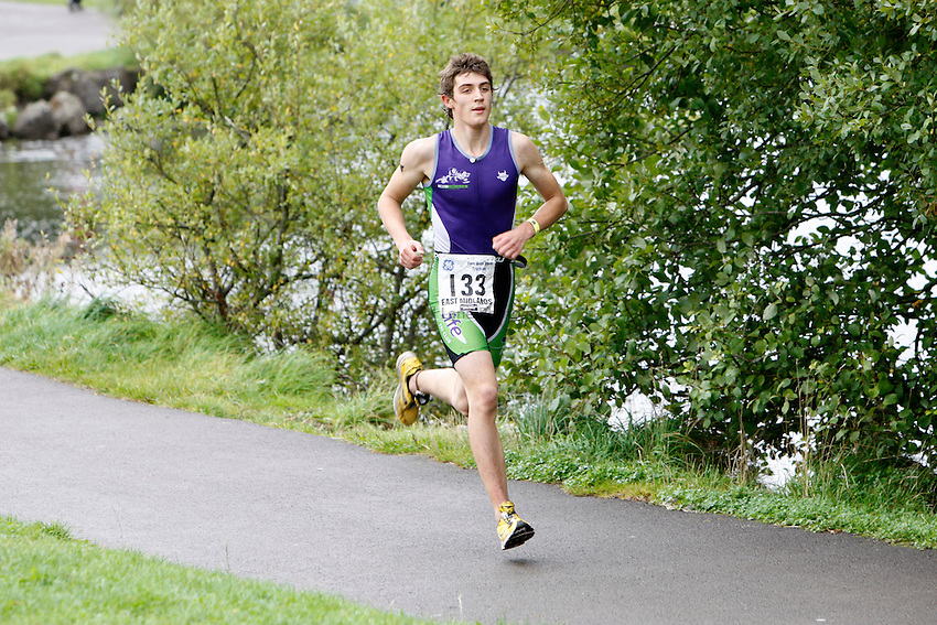 Photo: Richard Lane/Richard Lane Photography. GE Parc Bryn Bach Triathlon. 19/09/2010. IRC Youth Men Race runners.