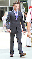 August 17, 2012 Ed Westwick  shooting on location for Gossip Girl in New York City. &copy; RW/MediaPunch Inc. /NortePhoto.com<br />