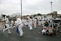 Morris dancers on the pier at Broadstairs, Kent, UK