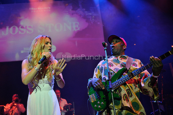 LONDON, ENGLAND - MAY 15: Joss Stone and Dennis Bovell performing at Camden Roundhouse on May 15, 2016 in London, England.<br /> CAP/MAR<br /> &copy;MAR/Capital Pictures /MediaPunch ***NORTH AMERICA AND SOUTH AMERICA ONLY***