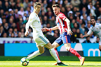Real Madrid's Cristiano Ronaldo (l) and Atletico de Madrid's Saul Niguez during La Liga match. April 8,2018. (ALTERPHOTOS/Acero) /NortePhoto NORTEPHOTOMEXICO