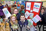 Pictured presenting projects as part of their Blue Flag award at St Mary' school, Knocknagoshel on Friday afternoon were: Lisa Curtin, Aine Poff and Sarah Walsh.