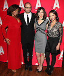 Da'Vine Joy Randolph, Chris Bauer, Seana Kofoed & Aimee Carrero attending the Opening Night After Party for the Atlantic Theater Company's 'What Rhymes with America' at Moran's in New York on December 12, 2012