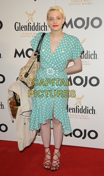 GUEST.The Glenfiddich MOJO Honours List award ceremony, the Brewery, Chiswell St., London, England..July 21st, 2011.full length blue green dress white polka dot.CAP/CAN.©Can Nguyen/Capital Pictures.