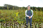 Kate Carmody at her home in Beale in a field of Hemp, winner of the European Rural Innovation competition