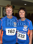 Carmel Duffy and Bernadine McAloon who took part in the Seamie Weldon memorial run at St. Mary's GAA club Ardee. Photo:Colin Bell/pressphotos.ie