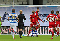 Bright Osayi-Samuel of Queens Park Rangers goes down with the ball after Michael Hector of Fulham fouls him during Queens Park Rangers vs Fulham, Sky Bet EFL Championship Football at the Kiyan Prince Foundation Stadium on 30th June 2020