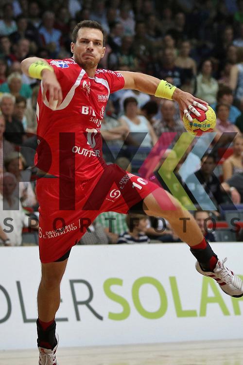 Bremen, 09.08.15, Sport, Handball, Erima-Cup 2015, MT Melsungen-TSV Hannover-Burgdorf : Malte Schr&ouml;der (MT Melsungen, #10)<br /> <br /> Foto &copy; P-I-X.org *** Foto ist honorarpflichtig! *** Auf Anfrage in hoeherer Qualitaet/Aufloesung. Belegexemplar erbeten. Veroeffentlichung ausschliesslich fuer journalistisch-publizistische Zwecke. For editorial use only.