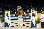 Xingjia Zhang of China riding For Passion D Ive Z competes in the Maserati Masters Power during the Longines Masters of Hong Kong at AsiaWorld-Expo on 10 February 2018, in Hong Kong, Hong Kong. Photo by Ian Walton / Power Sport Images