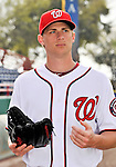25 February 2011: Washington Nationals' pitcher Ross Detwiler prepares for a Photo Day session at Space Coast Stadium in Viera, Florida. Mandatory Credit: Ed Wolfstein Photo
