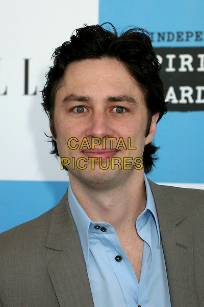 ZACH BRAFF.2007 Film Independent's Spirit Awards at the Santa Monica Pier, Santa Monica, California, USA,.24 February 2007..portrait headshot.CAP/ADM/BP.©Byron Purvis/AdMedia/Capital Pictures.