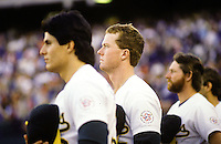 Oakland A's...... Canseco, McGuire & Lansford.Ron Riesterer/photo