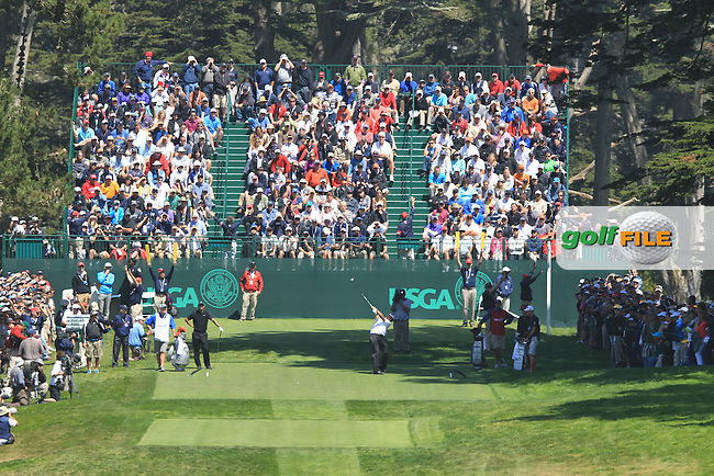 Phil Mickelson (USA) tees off the 7th tee during Friday's Round 2 of the 112th US Open Championship at The Olympic Club, San Francisco,  California, 15th June 2012 (Photo Eoin Clarke/www.golffile.ie)