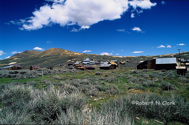 Historical mining own of Bodie located near Bridgeport, California in the high desert