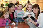 Cheryl and Kian Connor with Nicola, Ella and Leah Andrews at Barney in Scotch Hall Shopping Centre...Photo NEWSFILE/Jenny Matthews.(Photo credit should read Jenny Matthews/NEWSFILE)....This Picture has been sent you under the condtions enclosed by:.Newsfile Ltd..The Studio,.Millmount Abbey,.Drogheda,.Co Meath..Ireland..Tel: +353(0)41-9871240.Fax: +353(0)41-9871260.GSM: +353(0)86-2500958.email: pictures@newsfile.ie.www.newsfile.ie.FTP: 193.120.102.198.