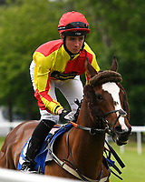 Diamond Express ridden by Rosa Ryan goes down to the start of The Molson Coors Handicap (Class 6) during Afternoon Racing at Salisbury Racecourse on 12th June 2018