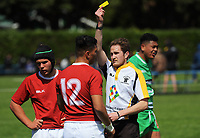 Action from the 2017 Hurricanes Youth Council Under-16 Tournament match between Manawatu and Poverty Bay at Wanganui Collegiate in Wanganui, New Zealand on Tuesday, 3 October 2017. Photo: Dave Lintott / lintottphoto.co.nz