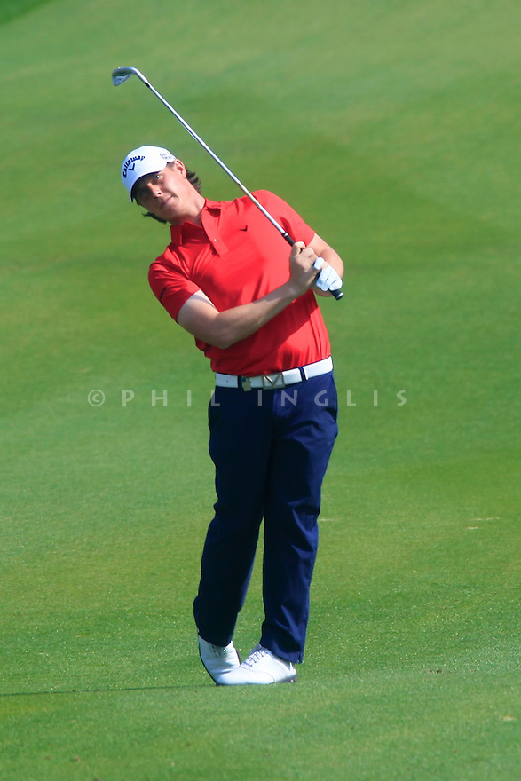 Kristoffer Broberg (SWE) in action during the final round of the Commercial Bank Qatar Masters played at Doha Golf Club, Doha, Qatar. 22 - 25th January 2014 (Picture Credit / Phil Inglis)