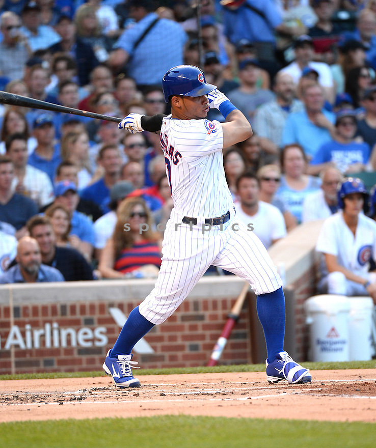 Chicago Cubs Willson Contreras (40) during a game against the New York Mets on July 19, 2016 at Wrigley Field in Chicago, IL. The Mets beat the Cubs 2-1.