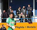 Spectators in an executive box gesture towards York fans during the Blue Square Premier play-off semi-final 2nd leg  match between Luton Town and York City at Kenilworth Road, Luton on Monday 3rd May, 2010..© Kevin Coleman 2010 ..