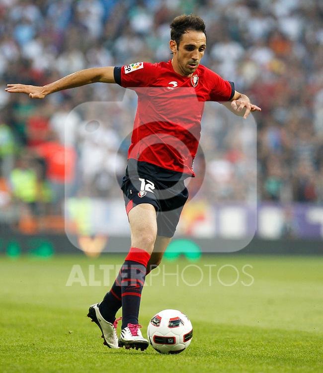 Madrid (11/09/10).- Estadio Santiago Bernabeu..Campeonato Nacional de Liga 2ª Jornada..Real Madrid 1- Osasuna 0.Juanfran...© Alex Cid-Fuentes/ALFAQUI