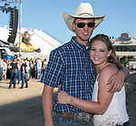 Jacob Debusk and Hailey Merlino during the Dustin Lynch Concert at the Reno Rodeo on Wednesday, June 14, 2017.