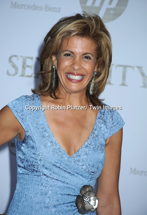 "Hoda Kotb posing for photographers at the world premiere of ""Sex and the City 2"" on May 24, 2010 at Radio City Music Hall in New York City."