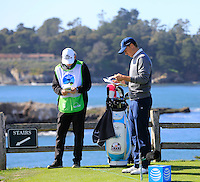 Jordan Spieth (USA) on the 7th tee at Pebble Beach Golf Links during Saturday's Round 3 of the 2017 AT&amp;T Pebble Beach Pro-Am held over 3 courses, Pebble Beach, Spyglass Hill and Monterey Penninsula Country Club, Monterey, California, USA. 11th February 2017.<br /> Picture: Eoin Clarke | Golffile<br /> <br /> <br /> All photos usage must carry mandatory copyright credit (&copy; Golffile | Eoin Clarke)
