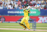 Steve Smith (Australia) mis times his pull shot and collects a single during Australia vs England, ICC World Cup Semi-Final Cricket at Edgbaston Stadium on 11th July 2019